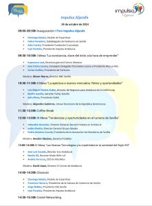 Programa evento Impulsa Aljarafe.