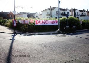 Vecinos de Novoparque contra la gasolinera que pretende levantar el consistorio en un suelo SIPS.  Imagen: ACEspartinas.