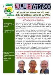 Información oficial de IU Espartinas sobre resolución Junta de Portavoces del 14-1-16. Imagen: IU Espartinas.